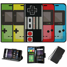 For Samsung Galaxy Note 8 N950 (2017) Wallet Case Retro Game