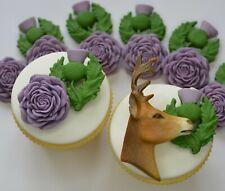 SCOTTISH THEME TOPPER Sugar Flowers Edible Cupcake Decorations