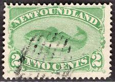NEWFOUNDLAND CANADA 1880/96 STAMP Sc. # 46 USED FISH