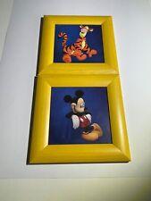 1 Disney Leinwandbild Mickey Mouse Feuerwehr blau Keilrahmen Kinderzimmer 33x70