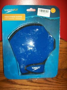New Speedo Fit Swimming Aqua Fit Training-Exercise Swim Gloves Royal- S/P-