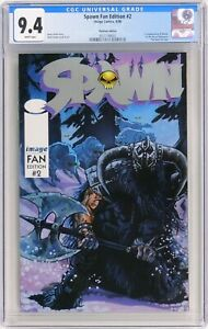 S240. SPAWN FAN EDITION #2 Image CGC 9.4 NM (1996) PLATINUM EDITION; WHITE Pages