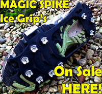 Snow Boot Spiked Crampon Anti Slip Ice Cleats MAGIC Climbing Spike XLARGE UK 12+