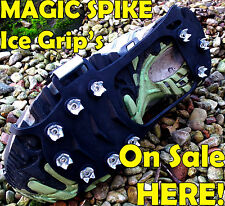 SALE Golf Hiking Climbing Ice Snow Mud Winter Grass Over Shoe Magic Grip Cleets