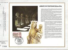 DOCUMENT CEF PREMIER JOUR 1977 ABBAYE DE FONTENAY  COTE D OR