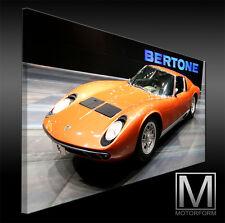 Auto & Motorrad: Teile Ferrari F430 Echte Leinwand Bild Canvas Art Kunstdruck Leinwandbild Lounge Kunst