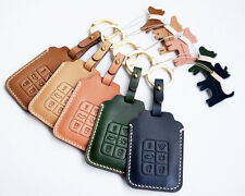 Leather Smart Key Chain Case Cover Fob For VOLVO C30 C70 S40 S80 V50 V60