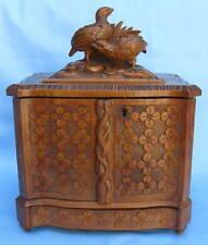 19th Century German Birch Wood Cigar Box VERY UNIQUE