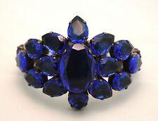 Bracciale rigido Mercantia in cristalli blu - listino € 180,00 - sconto 50%!