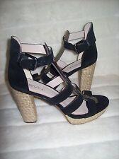Rosegold Pana Buckle Closure Platform Heels Sandals Shoes 39 US 9 NEW