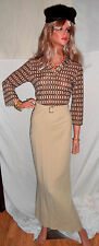 Incredible!! VINTAGE GUCCI Italian Classic TOM FORD Long Gold Skirt 6 MUST SEE!*