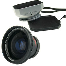 Bower 37mm.38x Wide Angle Lens,Hood for Sony Camcorder HDR-SR11 SR12 HDR-HC5 HC9