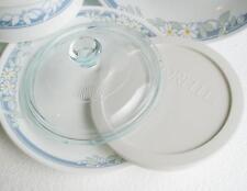Pyrex GLASS LID & Corelle White PLASTIC COVER for 28 oz SOUP BOWLS *NEW Rare!