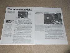 Thorens TD-126 Mk IIIc Turntable Review, 2 pg, 1979, Full Test, Specs, Info