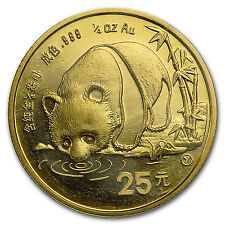 1987-Y China 1/4 oz Gold Panda BU (Sealed) - SKU #8953