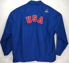 Beretta Sport USA Shooting Team Field Coat Jacket Made in Italy Mens Medium Blue