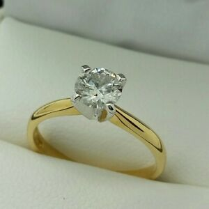 18ct Yellow Gold Brilliant Cut Diamond Solitaire Engagement Ring, 0.51ct
