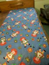 Adorable Handmade Colorful Raggedy Ann Designed Bed Cover w/Fringe