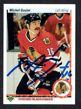 Michel Goulet #133 signed autograph auto 1990-91 Upper Deck Hockey Card