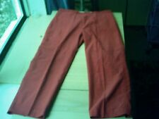 J Crew 100% Cotton Red Corduroy Cropped Pants (Women's) Size 6