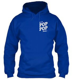 It's A Pop-Pop Thing Standard College Hoodie - Poly/Cotton Blend By Teegor