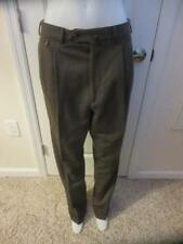 MENS FACONNABLE BROWN PLEATED PANTS WITH CUFFS - SIZE 36