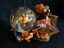 Pooh and Friends ~ Blustery Day Musical Snow Water Globe ~ Piglet Eeyore Tigger