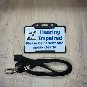 Hearing Impaired ID Card Hearing Impairment Deaf hidden disability