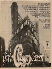 Chicago at Carnegie Hall UK LP Advert 1971