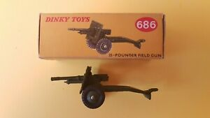 DINKY TOYS 686 - 25 Pounder Field Gun
