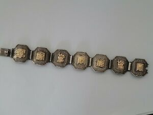 Peru armband 18k Gelbgold-925 silber 16,2cm (074)