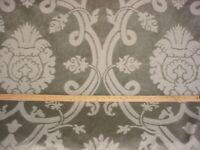 15-1/4Y Scalamandre PZ 00022247 Deep Sage Floral Damask Velvet Upholstery Fabric