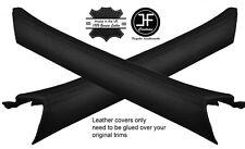BLACK STITCH 2X A PILLAR TRIM LEATHER COVERS FITS MERCEDES S CLASS W116 72-80