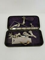 Vintage New Home Sewing Machine Parts, Attachments with Metal Box