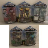 Lot of 5 Minecraft Action Figure Steve, Husk, Zombie, Stray, Blaze