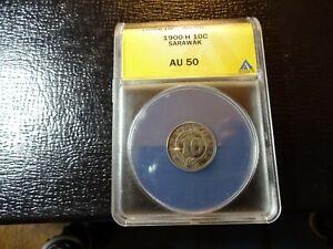 1900-H 10 Cent  Sarawak AU 50