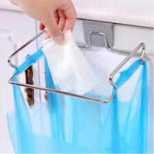Stainless Steel Trash Bag Holder Door Hook Garbage Bags Hanger Cupboard Stand