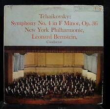 LEONARD BERNSTEIN tchaikovsky symphony no 4 LP VG+ ML 5332 CBS 6 Eye Mono Vinyl