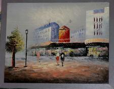 Tableau vue du Moulin Rouge Paris 1950 / 1970