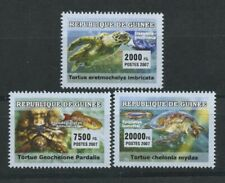 Sea Turtles Fish Stingray Set of 3 mnh stamps 2007 Guinea