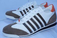New Dsquared2 Mens Shoes White Sneakers Tennis Size 44 New Runnr Vitello Multi