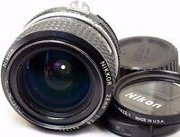 Nikon Nikkor 28mm F2.8 AI Lens manual focus prime (scratched)