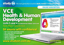 Studyon Vce Health and Human Development Accreditation Period 2014-2017