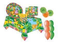 KIT COMPLEANNO N.49 WILD KINGDOM ANIMALI SAVANA FLUFFY FESTA CARTONE PARTY BIMBO