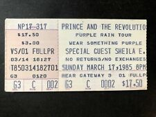 1985~PRINCE~THE REVOLUTION PURPLE RAIN~CONCERT TICKET~UNIONDALE LONG ISLAND NY