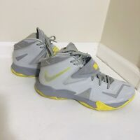 Nike Mens Zoom Soldier VII Lebron 599264-001 Gray Yellow Basketball Shoes Sz 11