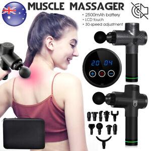 Massage Gun Deep Tissue Percussion Massager Muscle Vibrating Relaxing 6/10 Heads