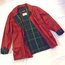 Vintage Montedoro Jacket ITALY Designer Mens 48 Italian Red Leather JIMMY'S NICE