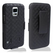 New Black Shell Holster Case Belt Clip Combo + Stand for Samsung Galaxy S5