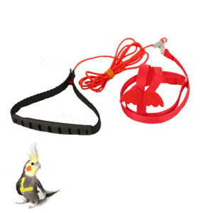 Adjustable Bird Harness Leash Outdoor Flying Training Long Rope Durable 1PC